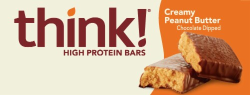 think! Creamy Peanut Butter High Protein Bars Perspective: back