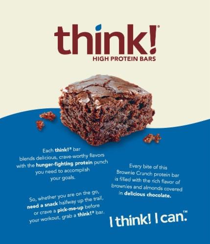 thinkThin® Gluten Free Brownie Crunch High Protein Bars Perspective: back
