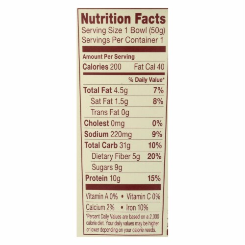 Think! Thin Protein & Fiber Hot Oatmeal - Honey Peanut Butter - Case of 6 - 1.76 oz Perspective: back