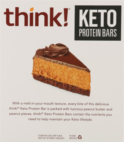 think!® Chocolate Peanut Butter Pie Keto Protein Bars Perspective: back