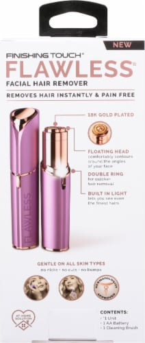 Finishing Touch® Facial Hair Remover - Lavender/Rose Gold Perspective: back