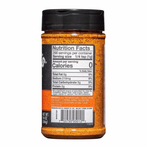 Kinder's Butcher's All Purpose Seasoning (9.4 Ounce) Perspective: back