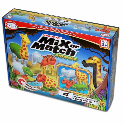 Popular Playthings PPY62000 Magnetic Mix or Match Animals Perspective: back
