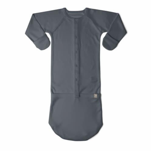 Goumikids Baby Night Gown Sleepsack Pajama Organic Sleep Clothes, 0-3M Midnight Perspective: back