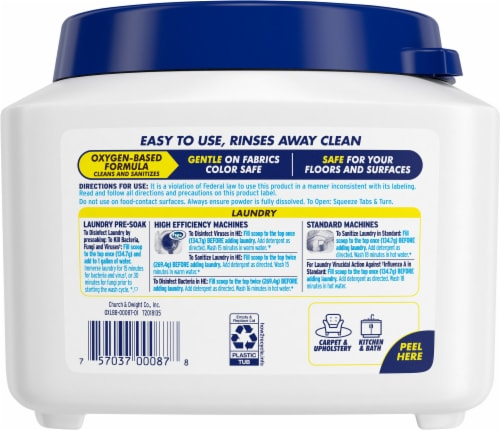 OxiClean Multi-Purpose Laundry & Home Powder Sanitizer Perspective: back