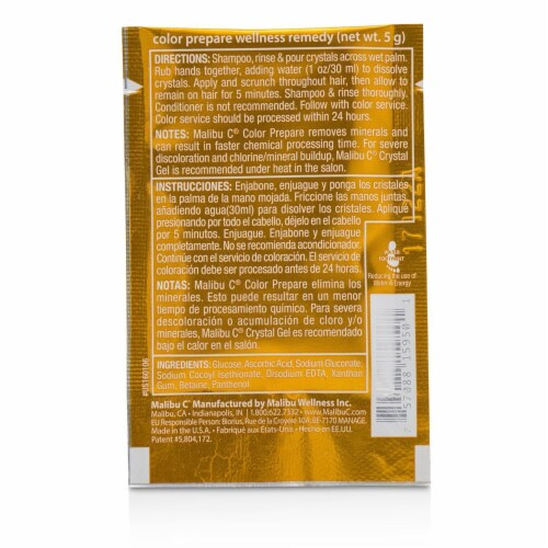 Malibu C Color Prepare 1 Step to Perfect Color 12 Pack Perspective: back