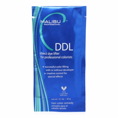Malibu C DDL XL Extra Lift Direct Dye Lifter 6 Pack Perspective: back