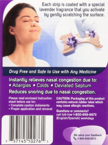 Breathe Right Lavender Scented Nasal Strips Perspective: back