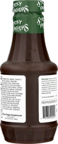Sticky Fingers Memphis Original Barbecue Sauce Perspective: back