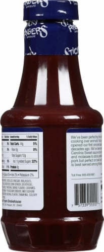 Sticky Fingers Carolina Sweet Barbecue Sauce Perspective: back