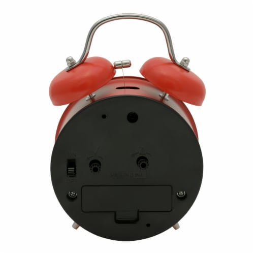 La Crosse Technology Twin Bell Alarm Clock - Red Perspective: back