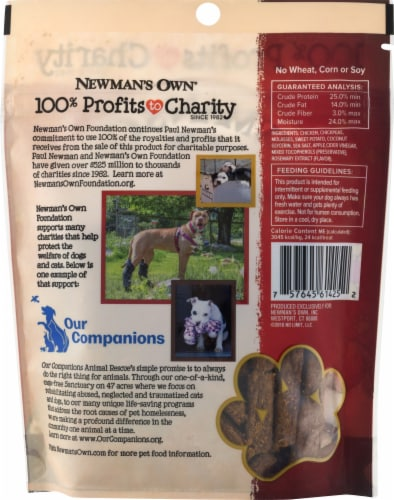 Newman's Own Chicken & Sweet Potato Recipe Snack Sticks for Dogs Perspective: back