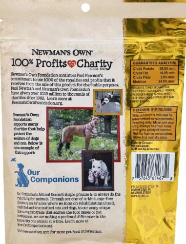 Newman's Own Original Recipe Turkey Jerky Dog Treats Perspective: back
