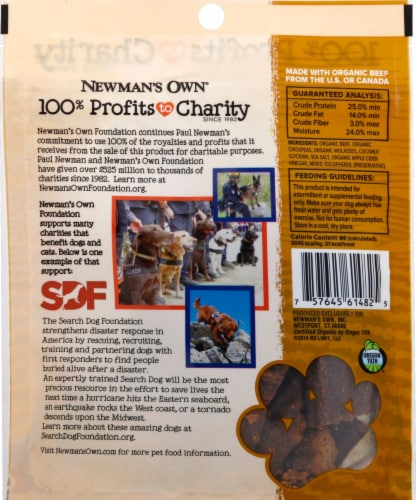 Newman's Own Organic Beef Recipe Snack Bites Perspective: back