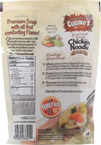 Cugino's® Chicken Noodle Soup Mix Perspective: back