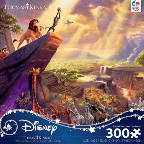 Thomas Kinkade Disney Dreams - Lion King Jigsaw Puzzle - 300 Pieces Perspective: back
