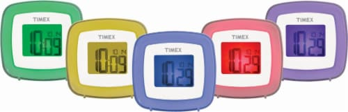 Timex Color Changing Dual Alarm Clock Perspective: back