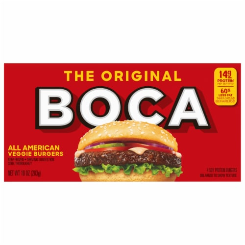 Boca All American Veggie Burgers Perspective: back