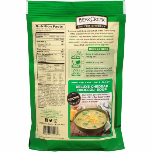 Bear Creek Cheddar Broccoli Soup Mix Perspective: back
