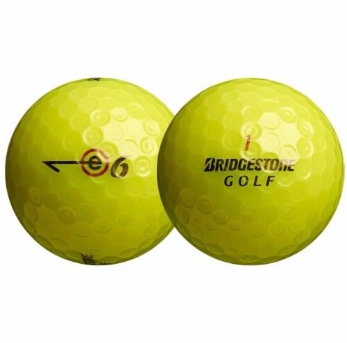 Bridgestone Golf E6 Straight Distance Golf Balls - Optic Yellow Perspective: back
