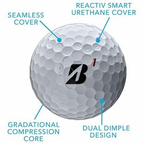 Bridgestone B0WX6D Bridgestone Tour B X Golf Balls-Dozen White Perspective: back