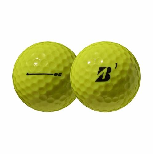 Bridgestone e6 Soft Feel Core Long Distance Plastic Golf Balls, Yellow, 1 Dozen Perspective: back