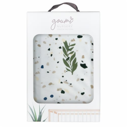 Groumikids Soft Organic Cotton Bamboo Baby Changing Pad Cover, Botanical Print Perspective: back