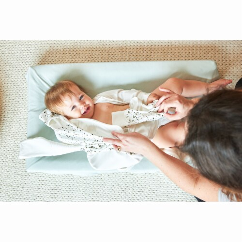 Goumikids Soft Organic Cotton Bamboo Baby Changing Pad Tray Cover, Succulent Perspective: back