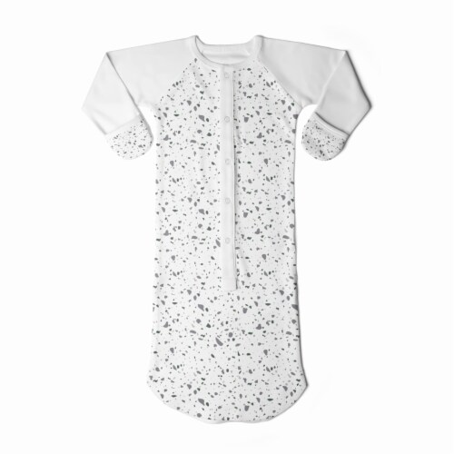 Goumikids Baby Sleeper Gown Organic Bamboo Sleepsack Pajamas, 0-3M Terrazzo Perspective: back