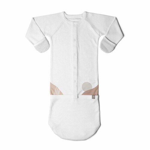 Goumikids Baby Sleeper Gown Organic Sleepsack PJ Clothes, 0-3M Sun Kissed Valley Perspective: back