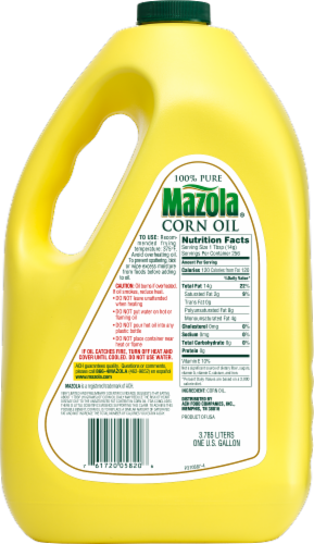 Mazola 100% Pure Corn Oil Perspective: back