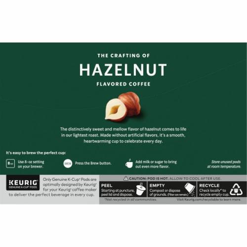 Starbucks Hazelnut Coffee K-Cup Pods Perspective: back