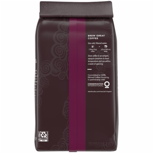 Starbucks® Sumatra Dark Roast Ground Coffee Perspective: back
