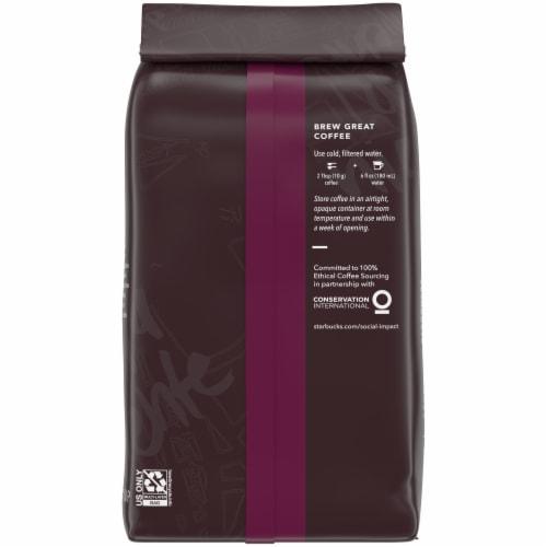 Starbucks® Italian Dark Roast Ground Coffee Perspective: back