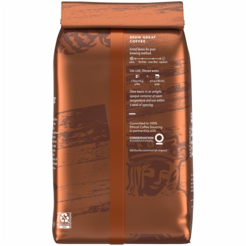 Starbucks Pike Place Medium Roast Whole Bean Coffee Perspective: back