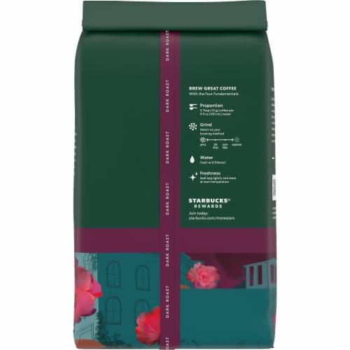Starbucks Caffe Verona Dark Roast Whole Bean Coffee Perspective: back