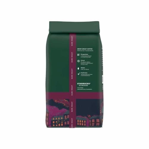 Starbucks French Roast Dark Roast Ground Coffee Perspective: back