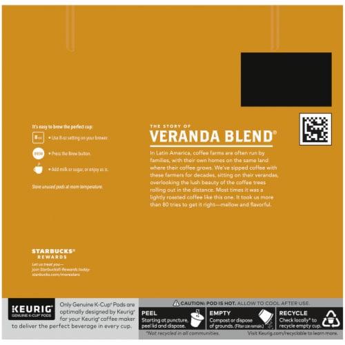 Starbucks® Veranda Blend Blonde Roast Ground Coffee K-Cup Pods Perspective: back