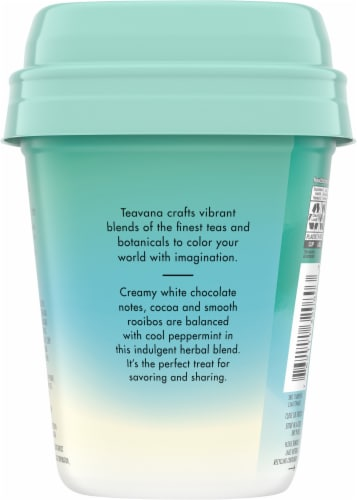 Teavana White Chocolate Peppermint Herbal Tea Sachets Perspective: back