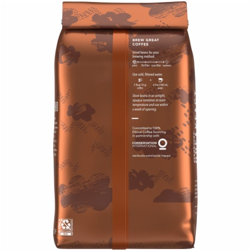 Starbucks® Breakfast Blend Medium Roast Whole Bean Coffee Perspective: back