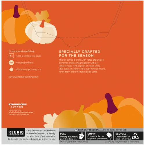 Starbucks® Pumpkin Spice Flavored Ground Coffee K-Cup Pods Perspective: back