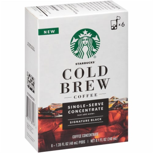Starbucks Cold Brew Signature Black Single-Serve Coffee Concentrate Pods Perspective: back