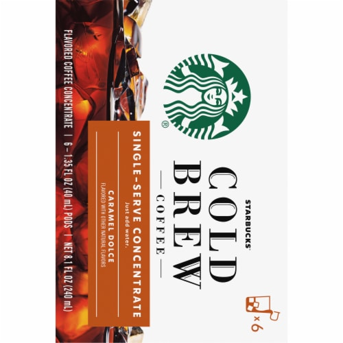 Starbucks Caramel Dolce Cold Brew Coffee Concentrate Single Serve Pods Perspective: back