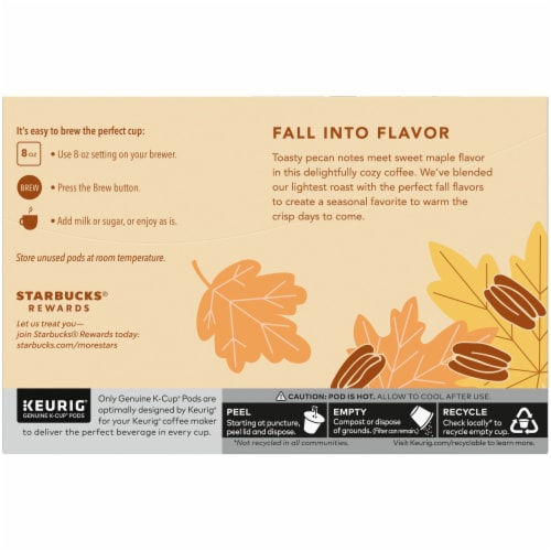 Starbucks® Maple Pecan Ground Coffee K-Cup Pods Perspective: back