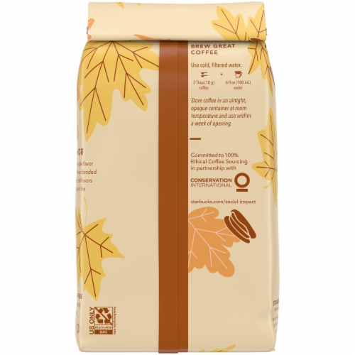 Starbucks® Maple Pecan Ground Coffee Perspective: back