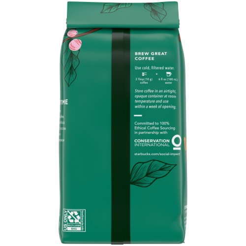 Starbucks Spring Day Blend Ground Coffee Perspective: back