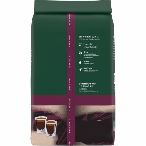 Starbucks Espresso Roast Ground Coffee Perspective: back