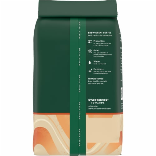 Starbucks Maple Pecan Ground Coffee Perspective: back