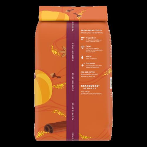 Starbucks® Pumpkin Spice Ground Coffee Perspective: back