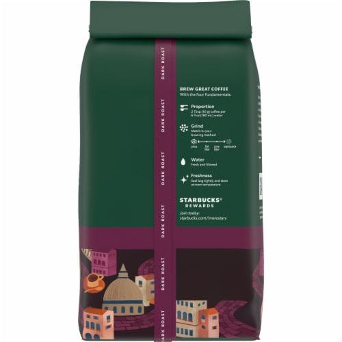 Starbucks® Italian Roast Dark Roast Whole Bean Coffee Perspective: back